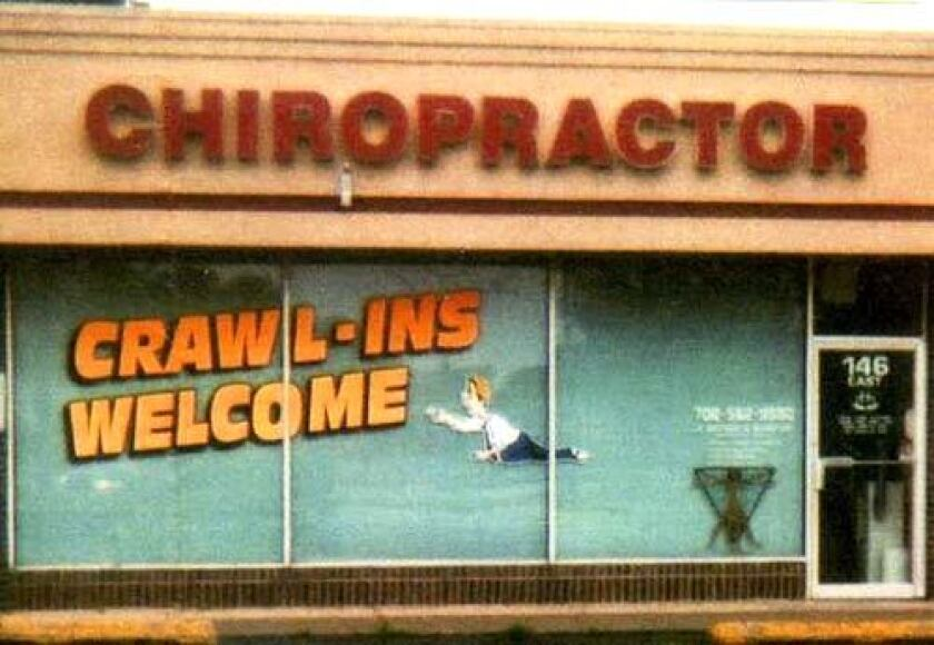A chiropractors office