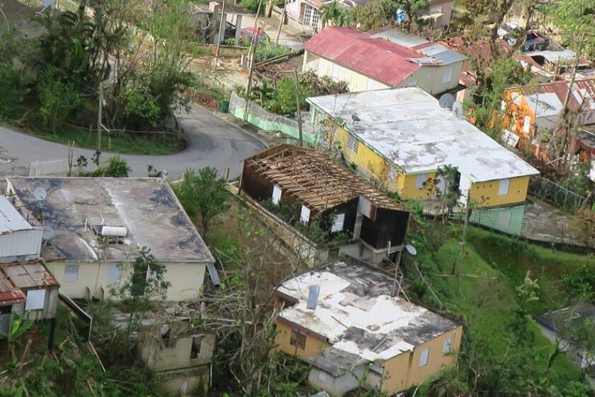 Fotografía de archivo del área donde se observan los daños ocasionados por el huracán María en la zona de Jayuya, Puerto Rico. EFE/Archivo