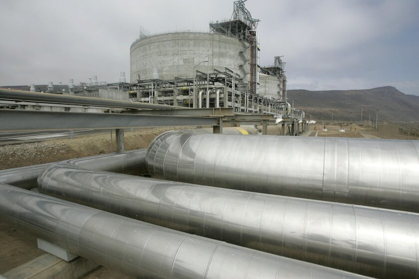 Liquefied natural gas is allowed to warm and turn back into gas at the LNG Energia Costa Azul plant in Baja California, Mexico, seen here in 2008.