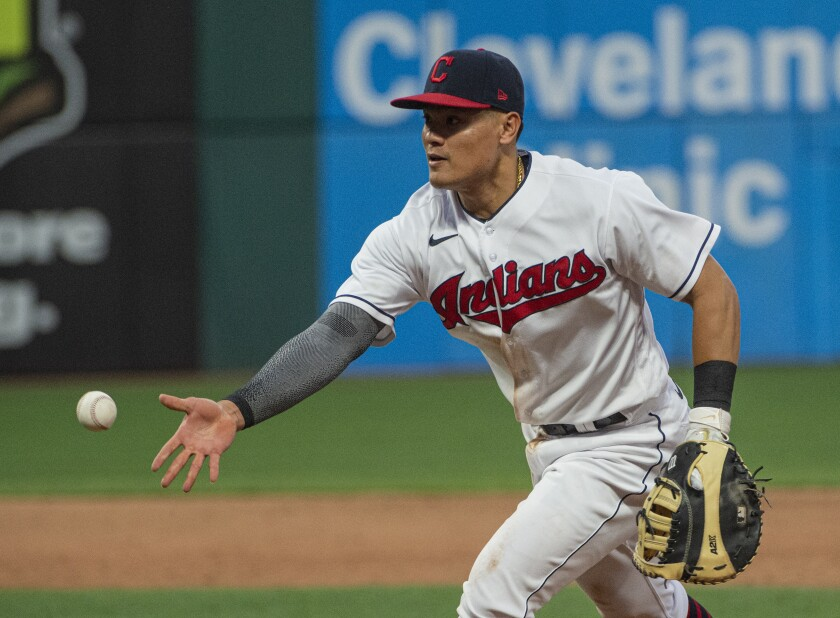 Cleveland Indians player Yu Chang