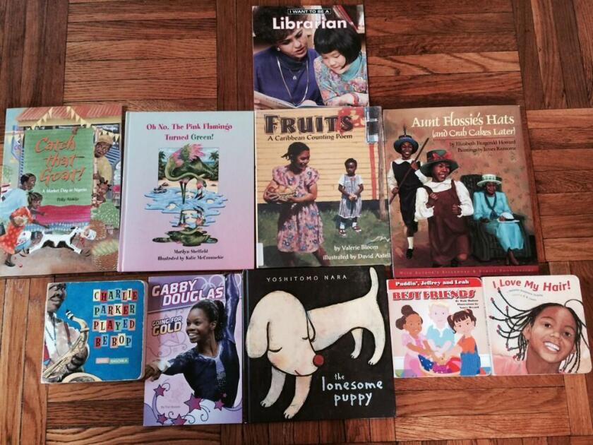 The New York children's art center Hannah's Studio posted this picture Friday on Twitter in support of the We Need Diverse Books campaign.