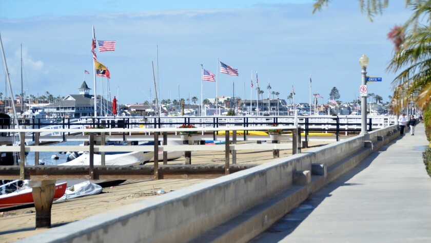 Balboa Island boasts a 2 1/2 mile pedestrian sidewalk with a continuous water view.