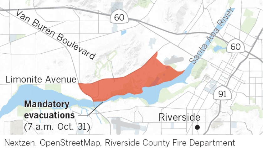 Evacuation zones for the 46 fire as of Thursday morning