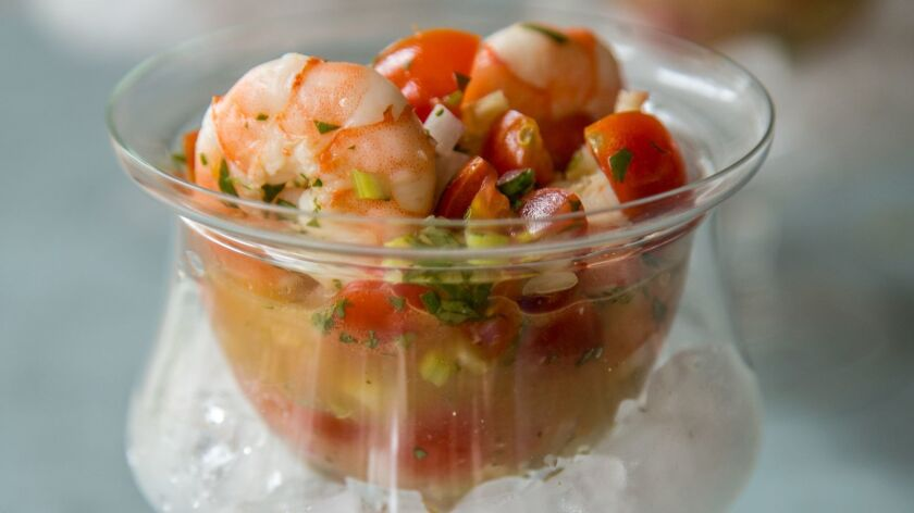 """Spicy Shrimp Ceviche from the """"Gumbo Love"""" cookbook."""
