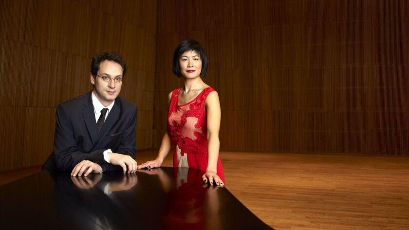 Violinist Jennifer Koh and pianist Shai Wosner performed together at SummerFest.