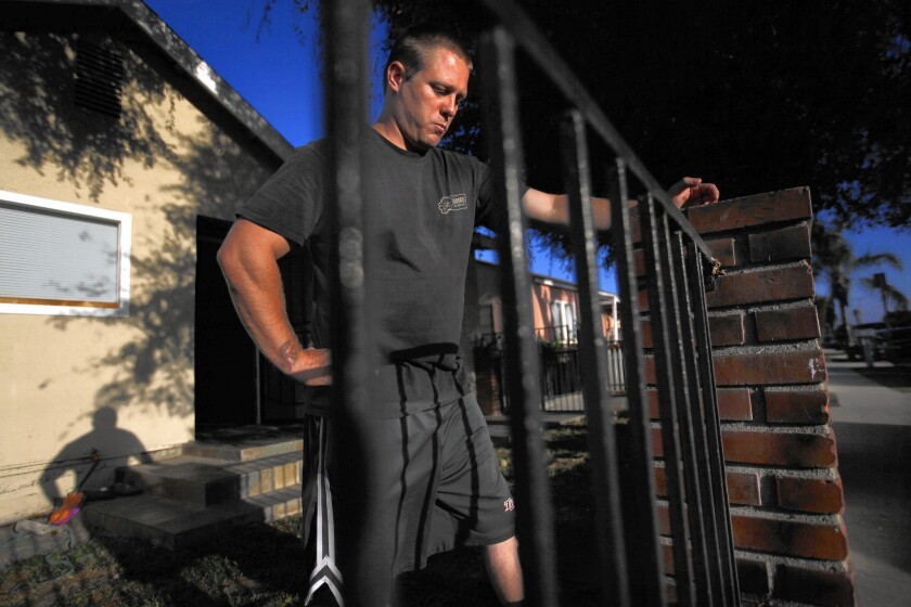 Scott Hookey, above, and his wife moved to Torrance last year. They had decided to try to have their first child and didn't know the home they had rented was near two chemical waste sites.