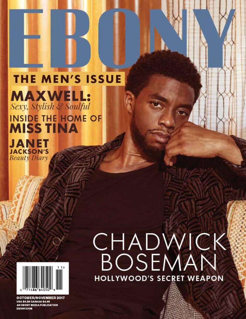 A 2017 Chadwick Boseman cover from Ebony magazine.