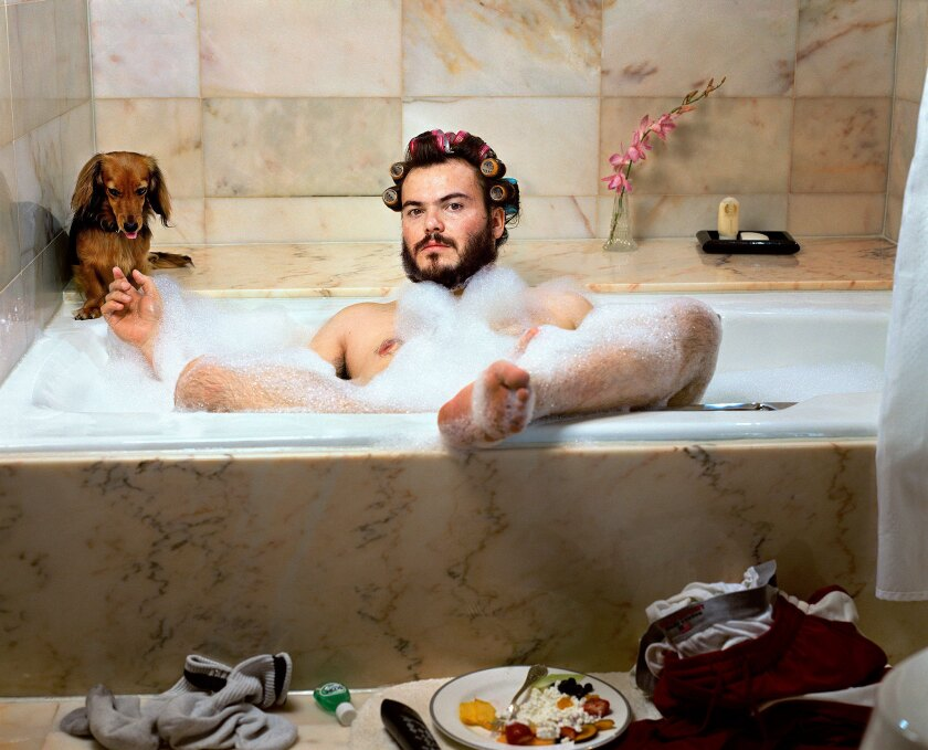 """""""Jack Black, New York, NY, 2000,"""" by Martin Schoeller. More than 80 exhibitors have gathered at the LA Mart for Photo L.A."""