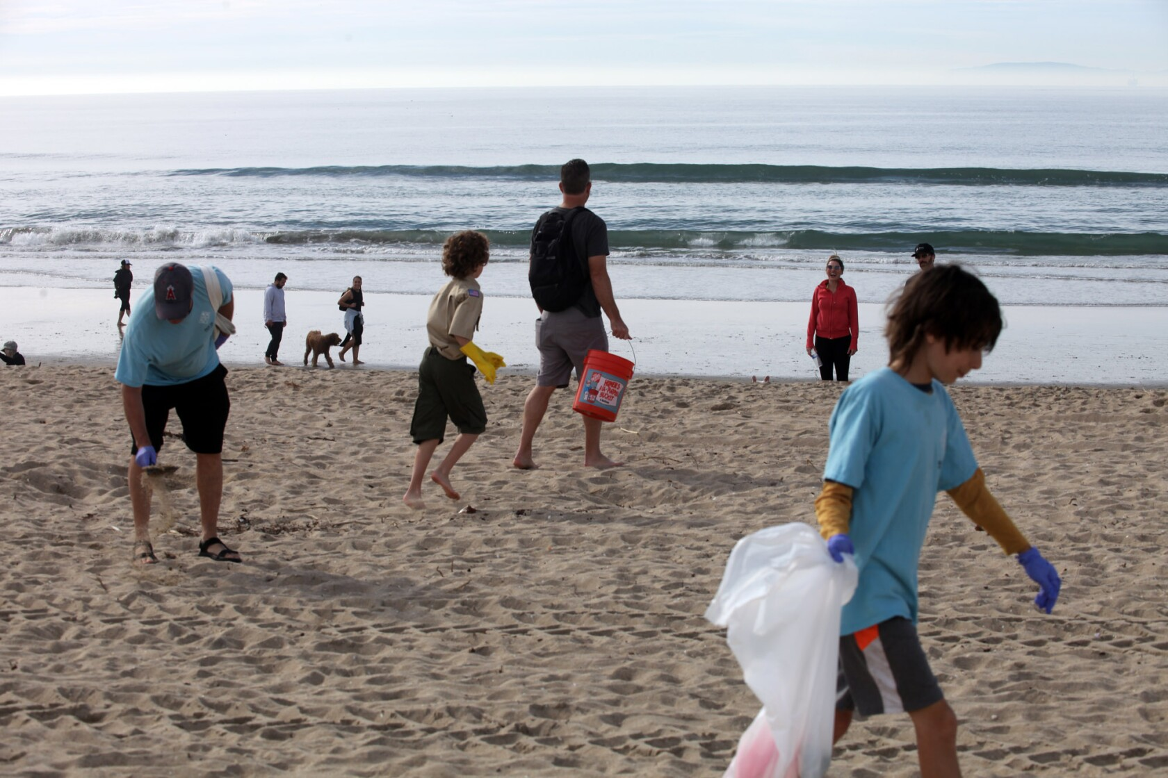 Volunteers spiff up Huntington Dog Beach as part of series of cleanups