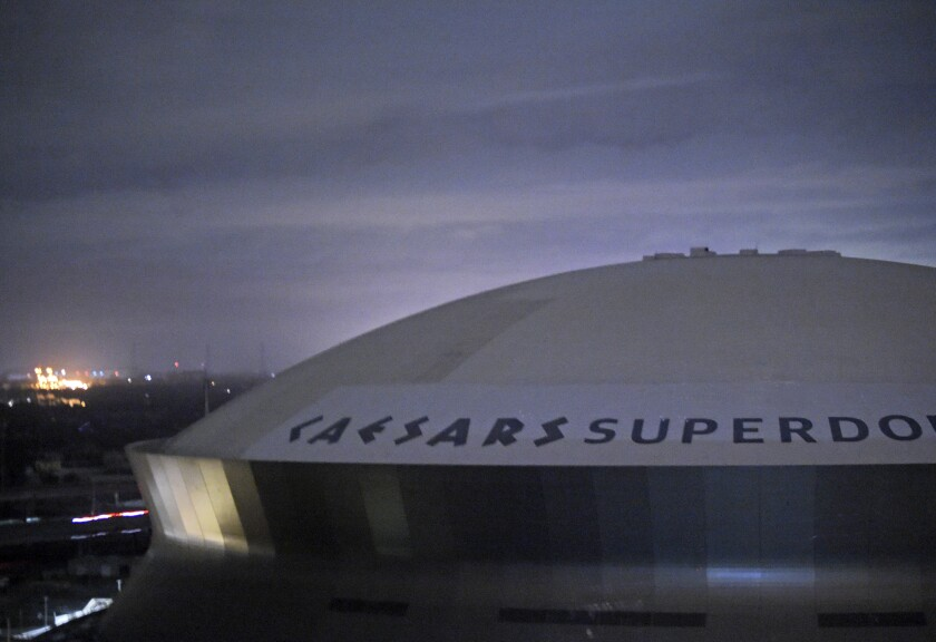 The Caesars Superdome, home of the New Orleans Saints, on Monday