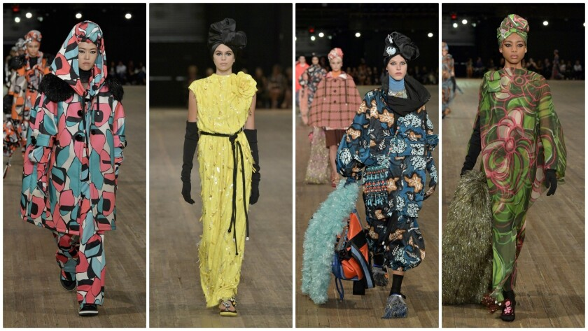 Looks from the spring and summer 2018 Marc Jacobs runway show (note Kaia Gerber, Cindy Crawford and