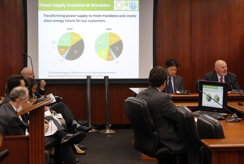 The case for DWP rate increases is presented on July 8 at the department's downtown headquarters. The call for the rate hikes follows a slew of missteps by the nation's largest municipal utility that its critics and city officials say have shaken the public's trust.