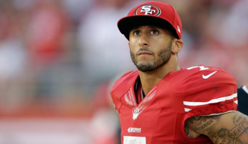Colin Kaepernick, QB de los 49ers de San Francisco.