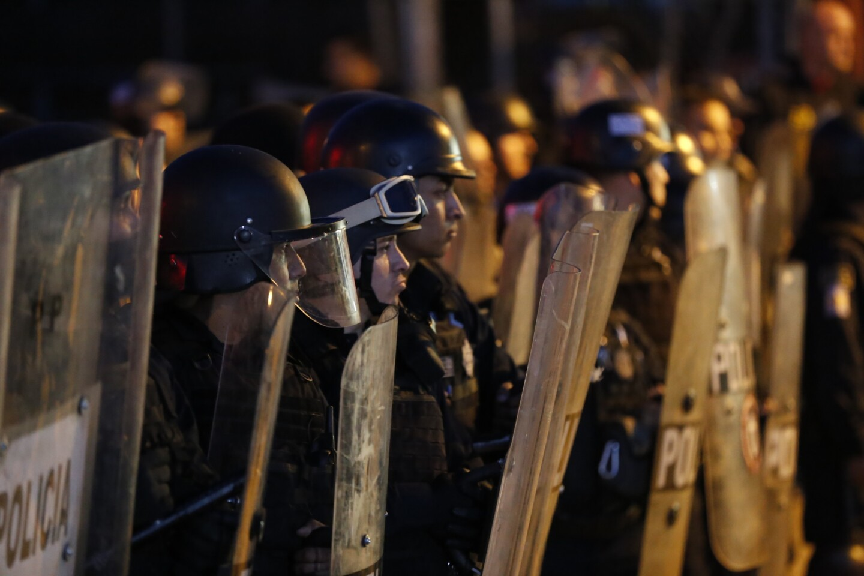 Tijuana Baja California, Mexico, January 7th, 2017:   Protesters are met by police presence in Rosarito.   (Alejandro Tamayo, The San Diego Union-Tribune)
