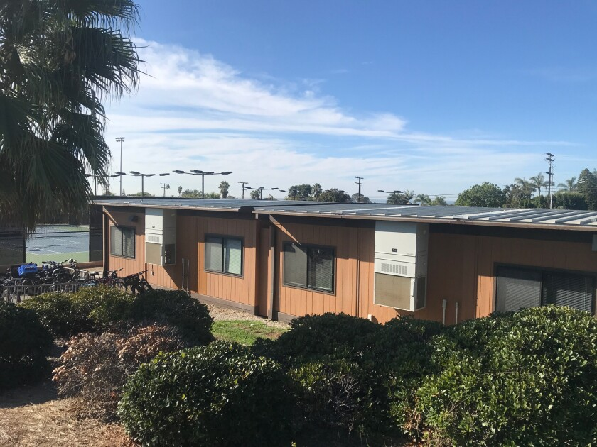 Sunset High School's temporary home on the San Dieguito High School Academy campus.