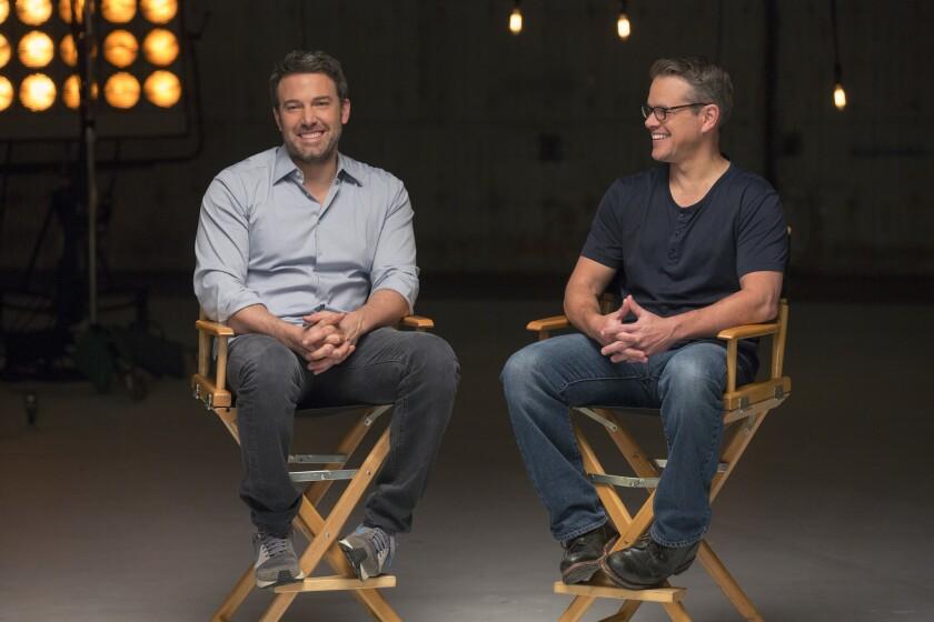 "Ben Affleck and Matt Damon on ""Project Greenlight."""