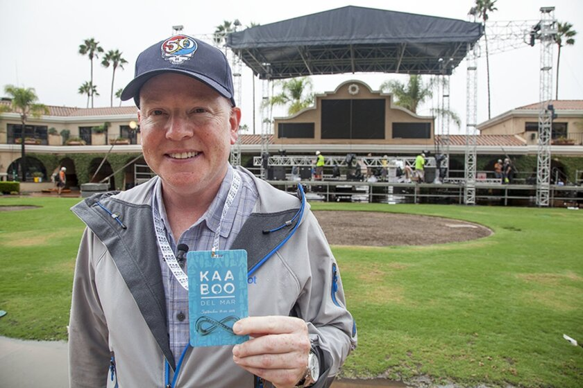 Bryan E. Gordon is the CEO and creator of KAABOO Del Mar music and food festival.  KAABOO is a three-day music and food marathon - which will be held Sept. 18-20 at the Del Mar Racetrack and Fairgrounds.   .
