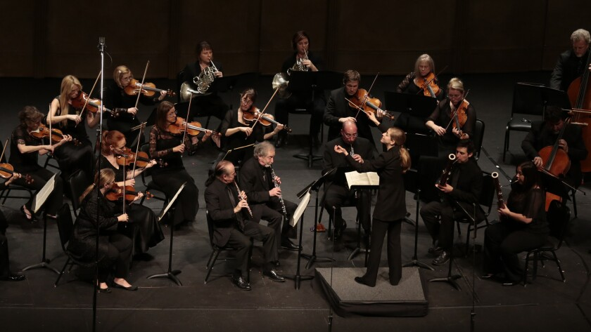 The Los Angeles Chamber Orchestra performs