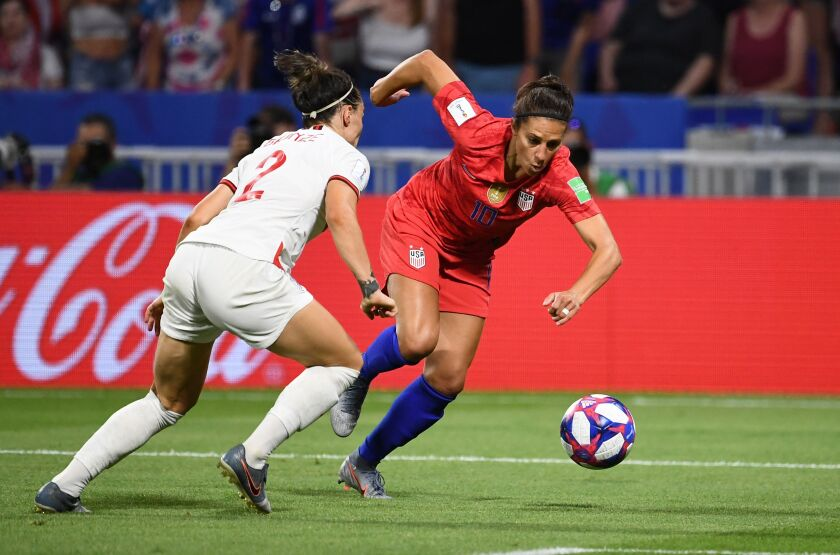 U.S. women's national team forward Carli Lloyd during the 2019 Women's World Cup.