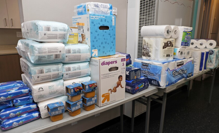 Shalimar Learning Center provides community members with baby wipes, diapers, more.