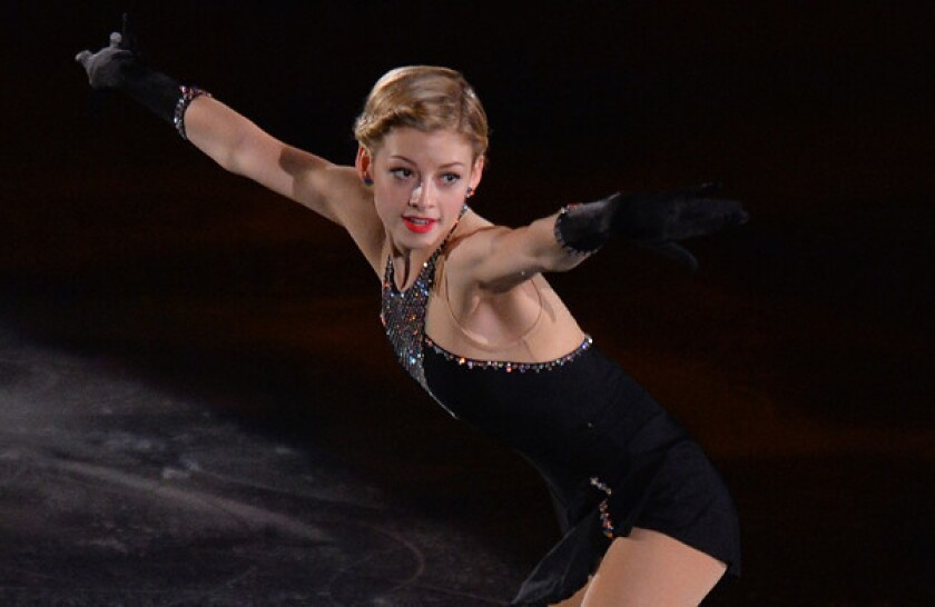American Gracie Gold performs during the Gala Exhibition at the ISU Grand Prix of Figure Skating in Tokyo on Nov. 10. Gold, who trains in Southern California, hopes to qualify for the U.S. Olympic team.