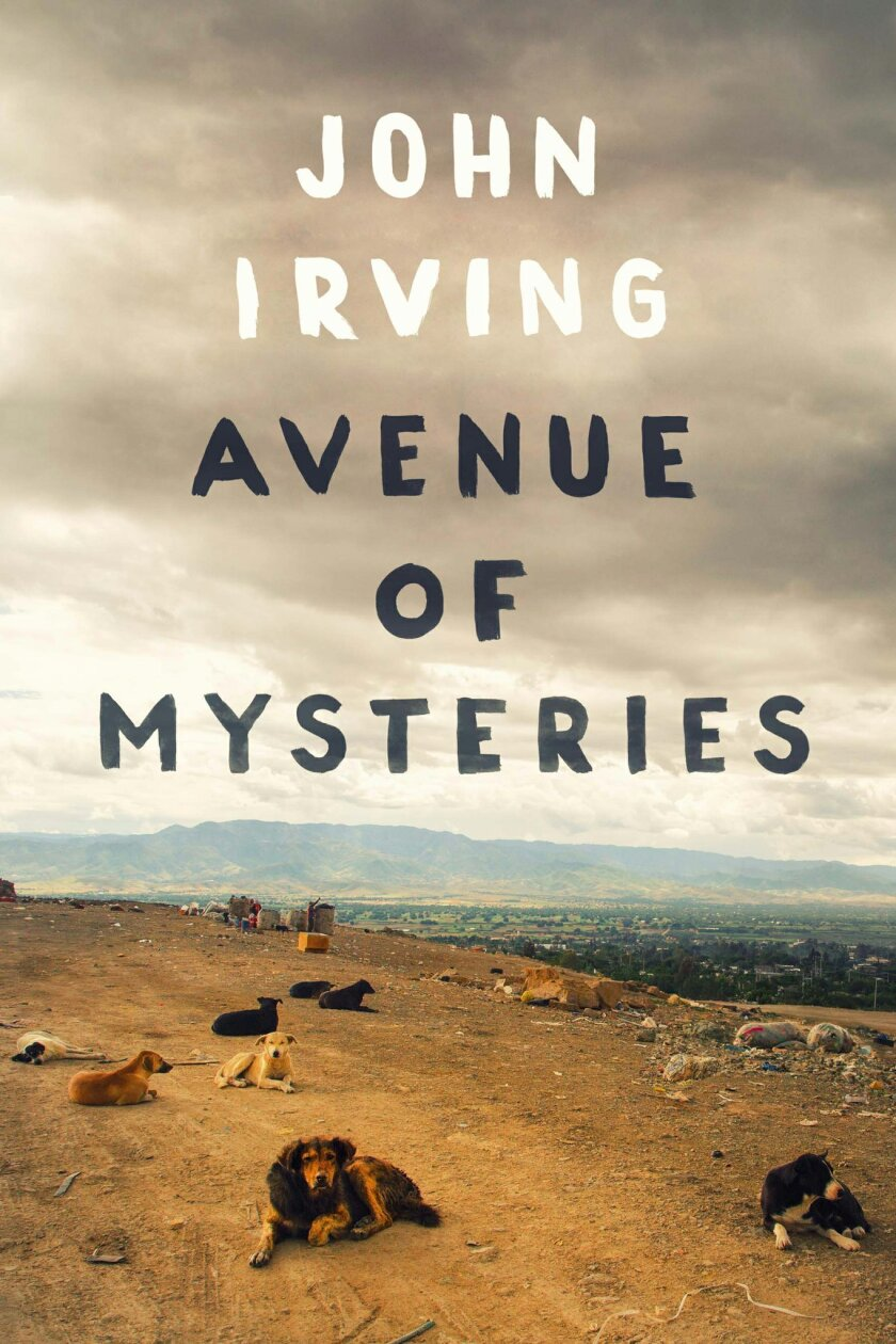 """This book cover image released by Simon & Schuster shows """"Avenue of Mysteries,"""" by John Irving. (Simon & Schuster via AP)"""