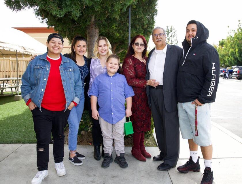 Jennifer Soto with her family (from left): Sara Bernard, Jennifer Soto, Rose Pack, Zack Pack, Blanca Bernard, Alex Bernard and Santi Farias.