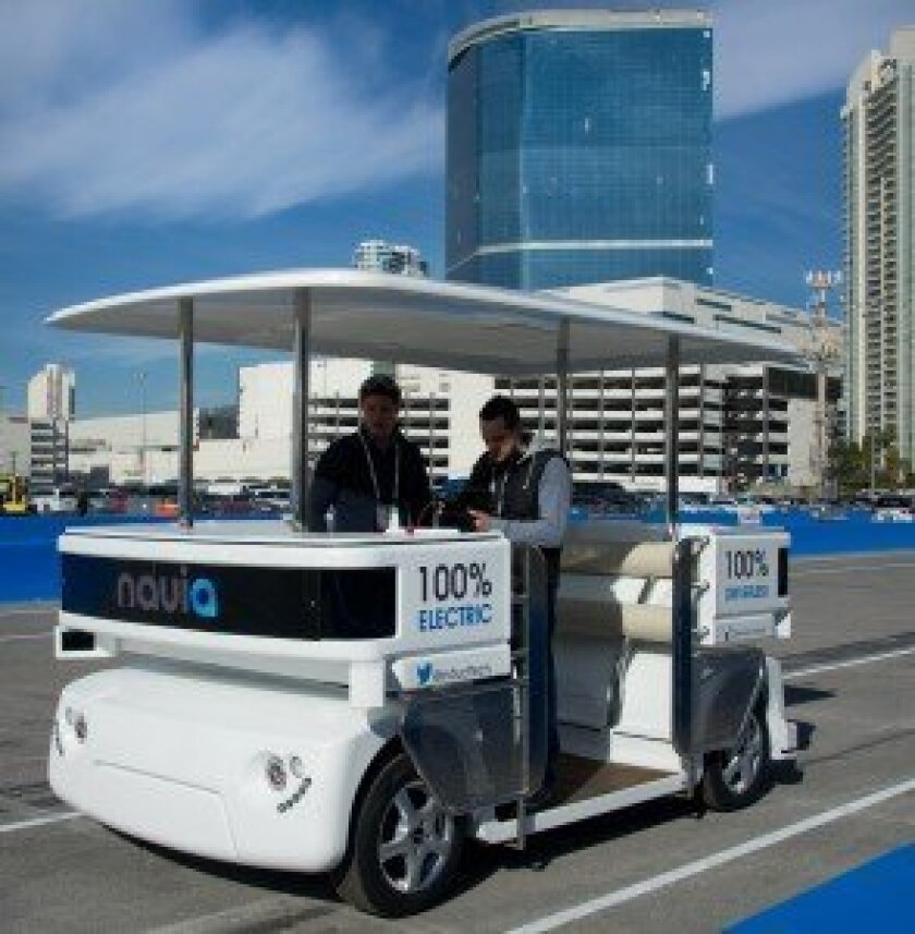 Navia all-electric city shuttle