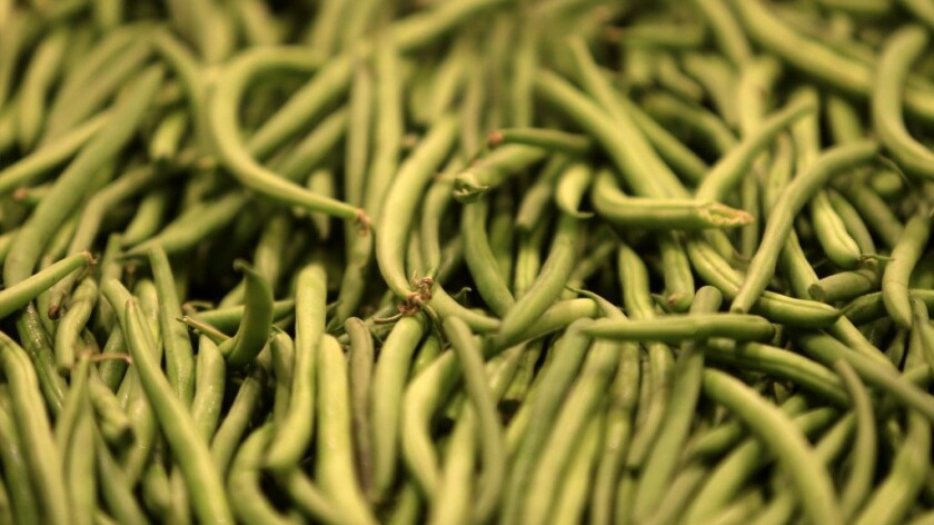 Green beans at the market.