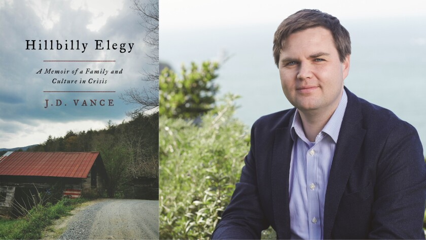 J.D. Vance is the author of 'Hillbilly Elegy'