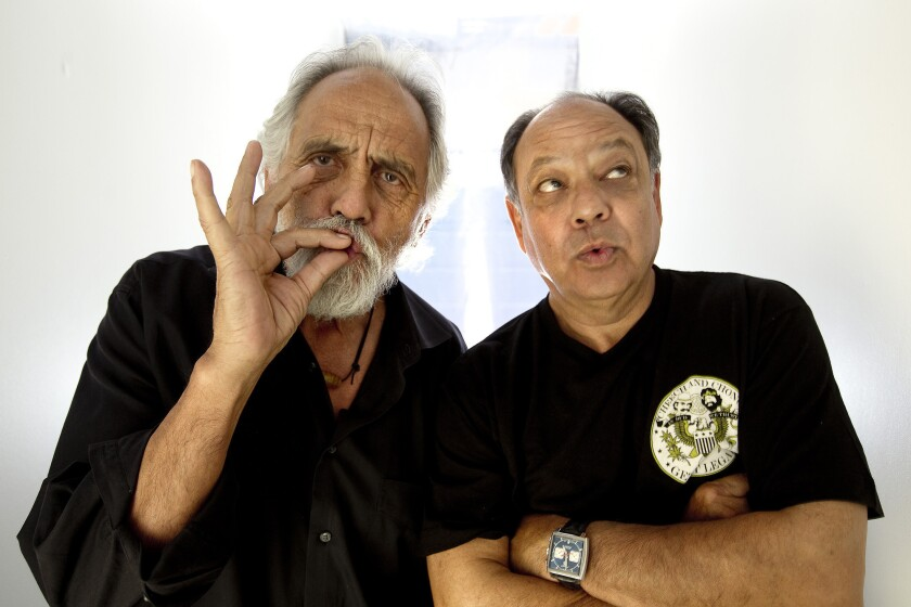 Cheech & Chong -- Tommy Chong, left, and Cheech Marin -- are working on a new movie