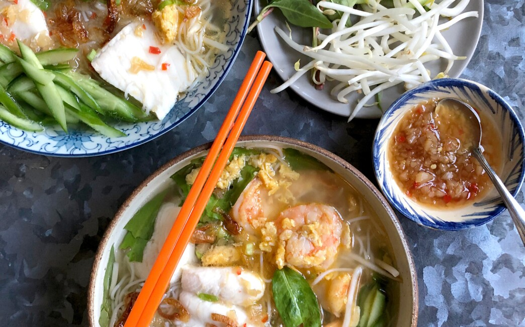 Bún Cá Kiên Giang Fish and Shrimp Rice Noodle Soup