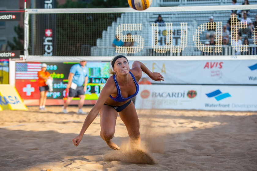 Beach Volleyball: Hughes next in line