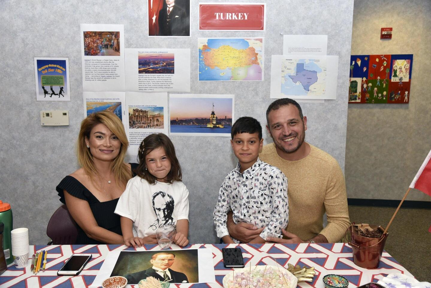 Yasemin and Halil Unel with Bella and Jake, representing Turkey