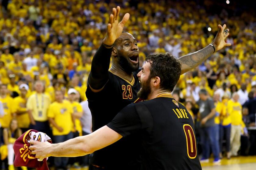 lowest price 67e6b 5e17e LeBron James and friends end Cleveland's drought, beat ...