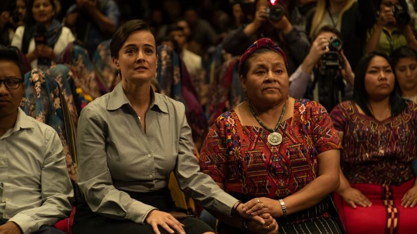 """Rigoberta Menchu Tum, right, in a scene from """"La Llorona."""""""