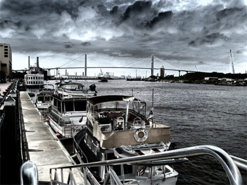 Dockside Before the Storm by Frank Hocza
