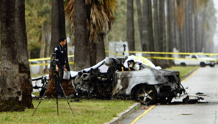 Journalist Michael Hastings died instantly of blunt-force trauma when he crashed into a tree on June 18, the coroner said.