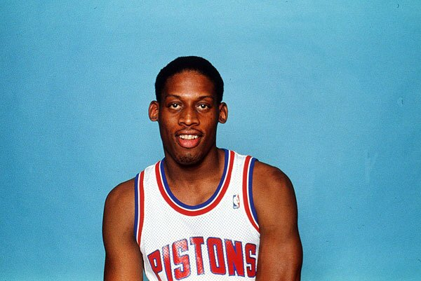 Dennis Rodman joined the NBA in 1986 and signed with the Detroit Pistons.