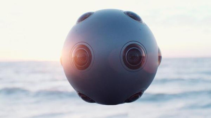 Nokia Ozo, unveiled Tuesday night, is a virtual-reality camera designed for professional videomakers.