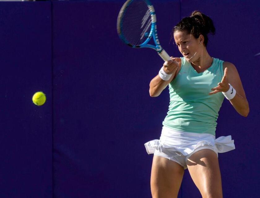 En la imagen, la tenista española Lara Arruabarrena. EFE/Archivo