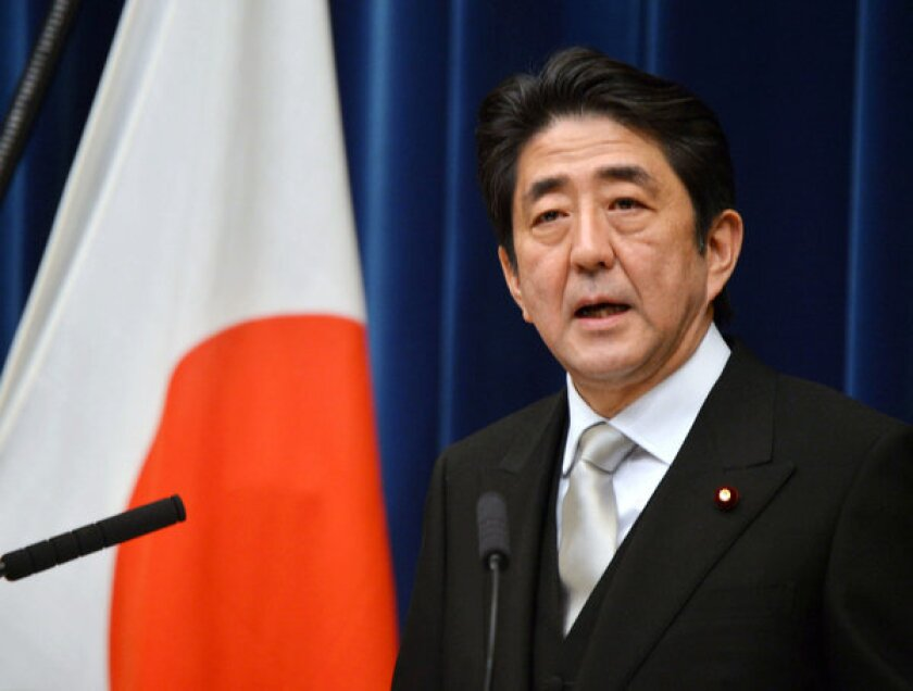 Shinzo Abe, Japan's new prime minister, speaks during a news conference at the prime minister's official residence in Tokyo last Wednesday.