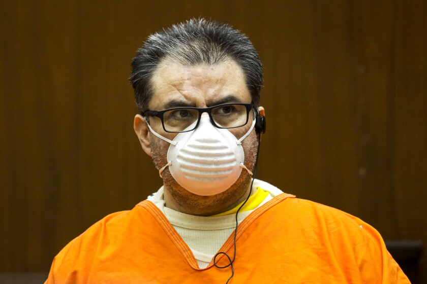 Naason Joaquin Garcia, leader of La Luz del Mundo church, at his bail hearing Aug. 5 in Los Angeles.