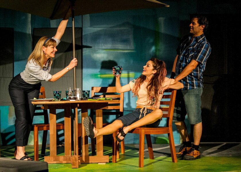 """Lisel Gorell-Getz, Summer Spiro and Jeffrey Jones (left to right) in San Diego Repertory Theatre's """"Detroit."""""""