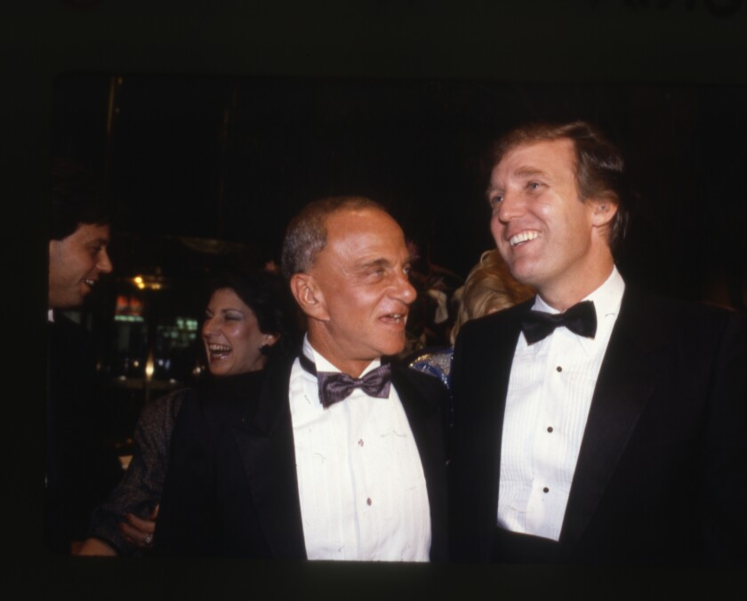 """Roy Cohn, left, and Donald Trump in a scene from """"Where's My Roy Cohn?"""""""