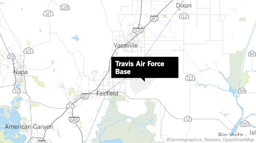 Map of Travis Air Force Base in Fairfield.