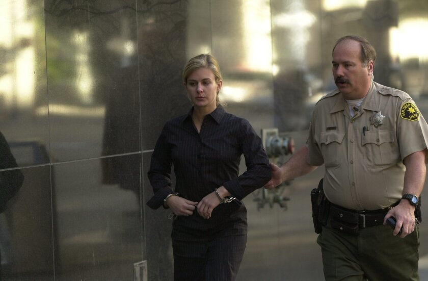 Kristin Rossum at her sentencing in February 2003. She was convicted of fatally poisoning her husband and is now appealing that conviction.