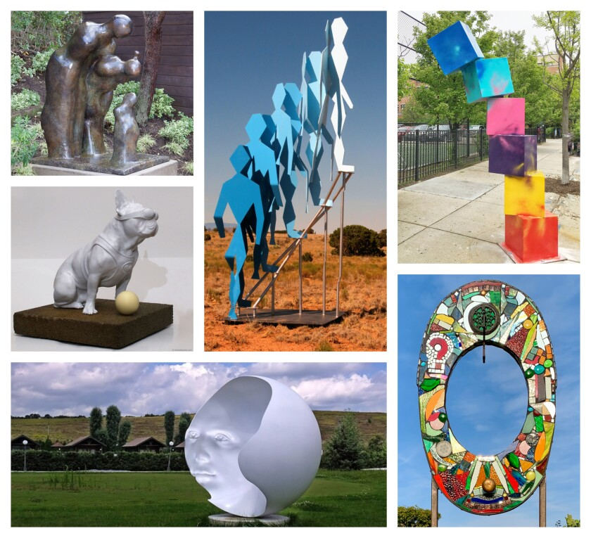 These are some of the 51 proposals submitted for the next phase of the sculpture exhibit at Newport Beach's Civic Center Park.