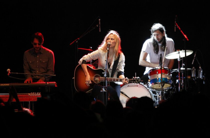 Sheryl Crow and her band perform at the kick-off of the first KAABOO Del Mar in 2015. She returns to play at the festival on Sunday.