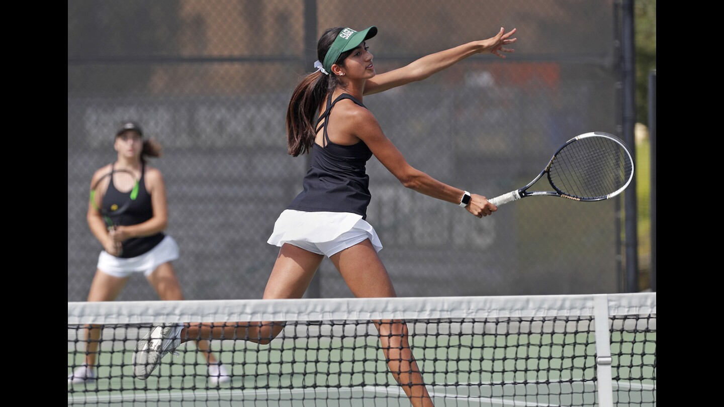 Photo Gallery: Sage Hill vs. Mater Dei in girls' tennis